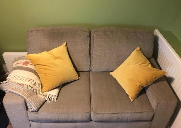 Grey Cloth Couch