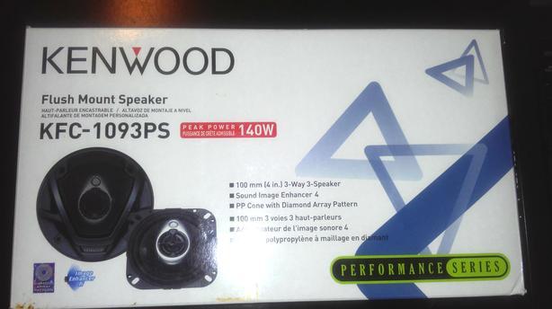Kenwood Kfc-1093Ps 4-Inch Performance Series Speakers