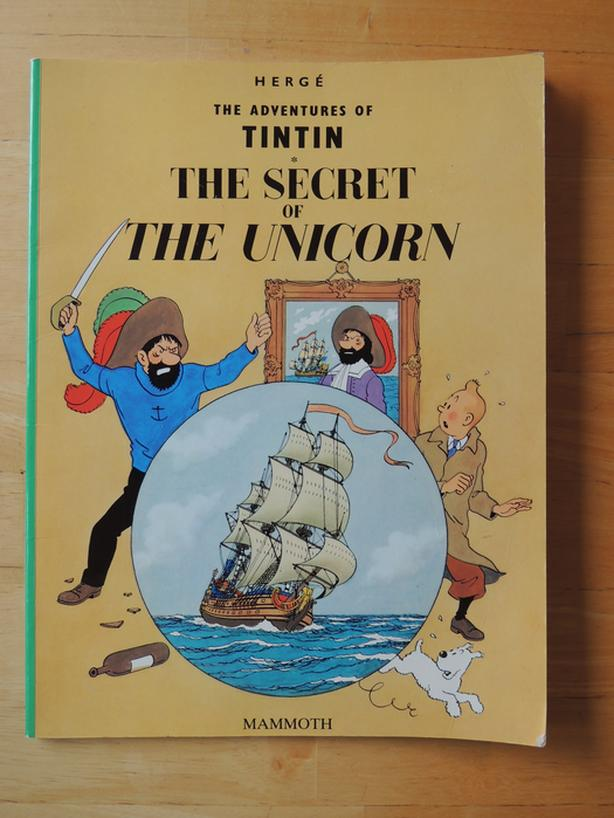 Tin Tin The Secret Of The Unicorn softcover by Herge, excellent condition