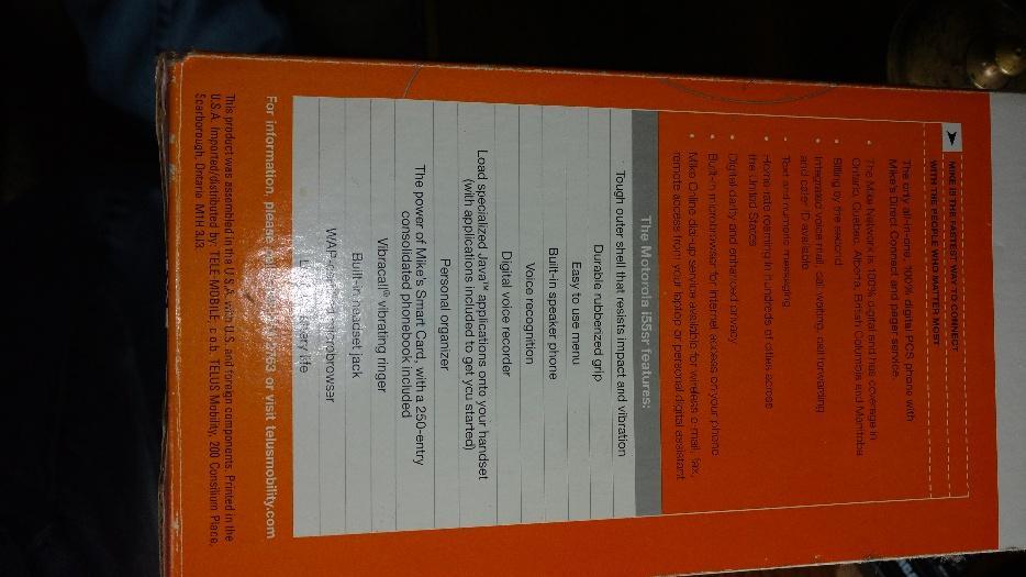 7aa61cec6 Motorola mike phone i55sr Port Alberni