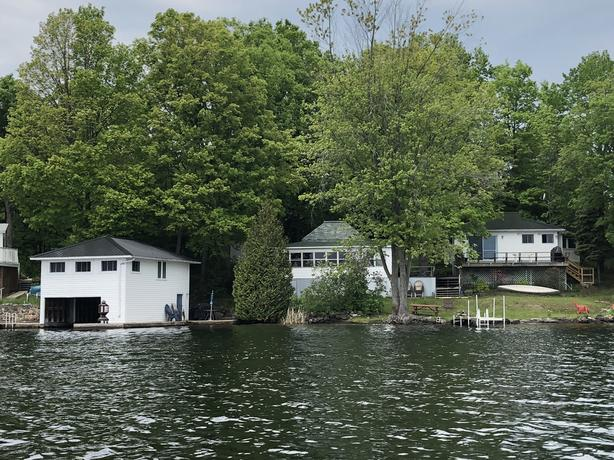 THREE COTTAGES ON ONE PROPERTY ON CHARLESTON LAKE.