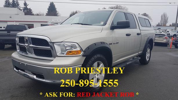 2010 RAM 1500 QUAD CAB SLT 4X4 * RED JACKET ROB *