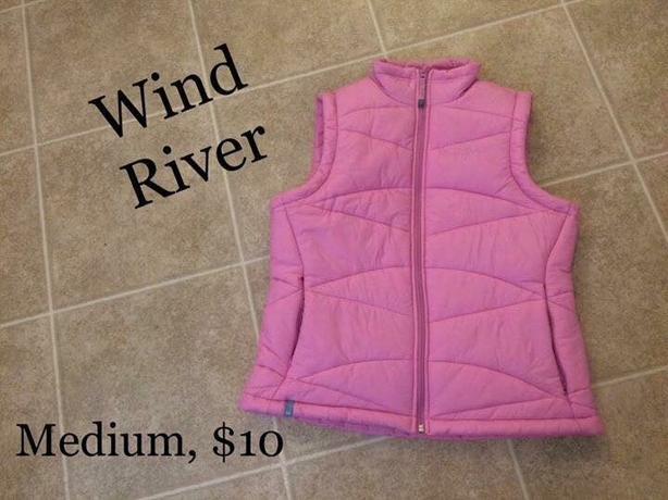 Womens Pink Wind River Vest