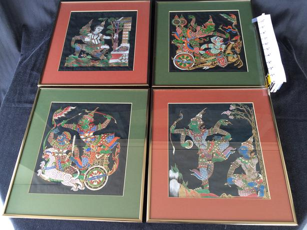 Thai Rama Fairy Tale Art Silk Paintings