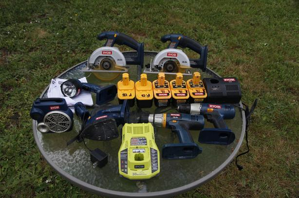 Reduced--Ryobi 18 volt ONE+ Cordless Tools (in Chemainus)