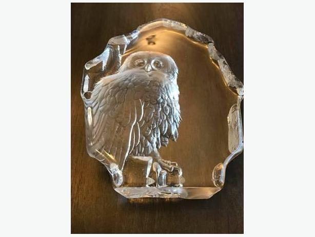 LARGE SIGNED MATS JONASSON 3289 TAWNY OWL SCULPTURE