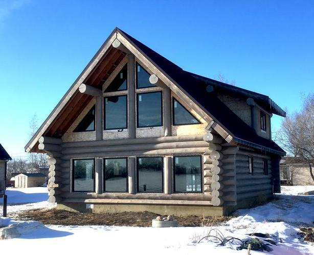 Alice Beach - Custom A-frame Log Cabin