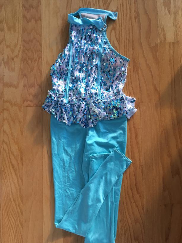 Blue sequin dance/dress-up dress