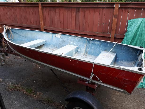 12 ft. aluminum boat and trailer