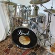 MID 1980S PEARL EXPORT SET CHROME METAL WRAP REDUCED!