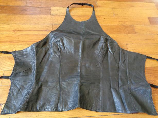 Black Leather Top - Size M