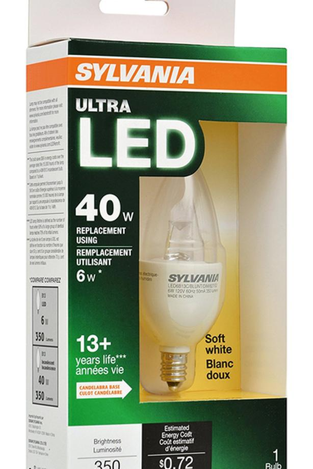 SYLVANIA 40W Equivalent Dimmable Candelabra LED Bulb - Soft White