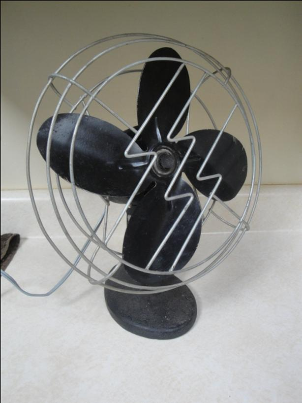 Antique Cast Iron Table Fan, by The Alliance Tool & Motor Company