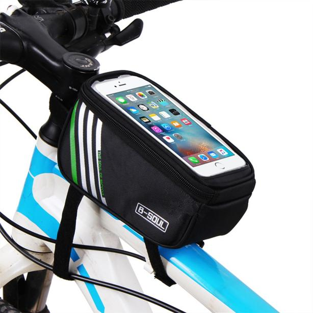 "Bicycle Bike Frame Phone Bag - 1.8L 5.7"" - Black"