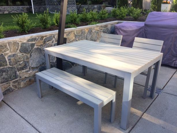 Ikea Falster Outdoor Dining Table And Seating Oak Bay