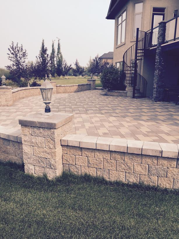 landscaping and custom stone work