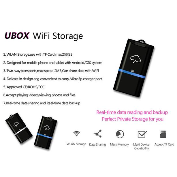 New WiFi TF/Micro SD Memory Card Reader USB for Phone Tablet
