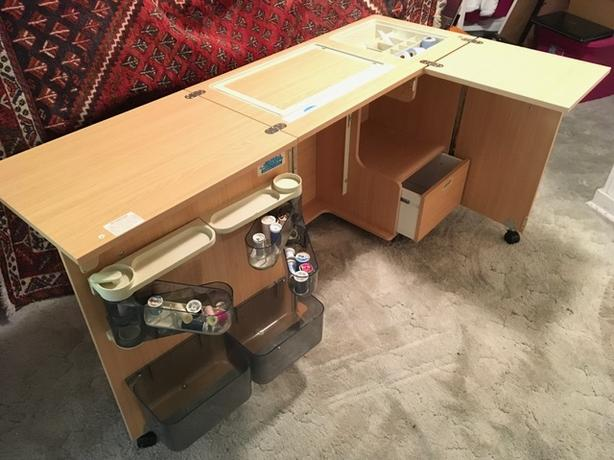 Sewing Cabinet with Fold Out Panels