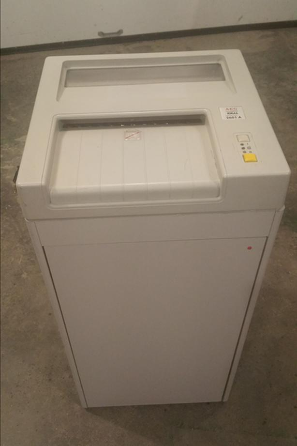 Extreme security government surplus paper shredder
