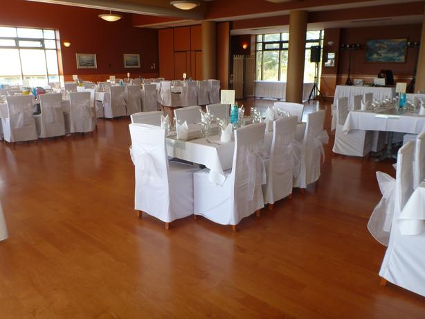 Pleasing 125 White Wedding Chair Covers And 125 White Sashes Machost Co Dining Chair Design Ideas Machostcouk