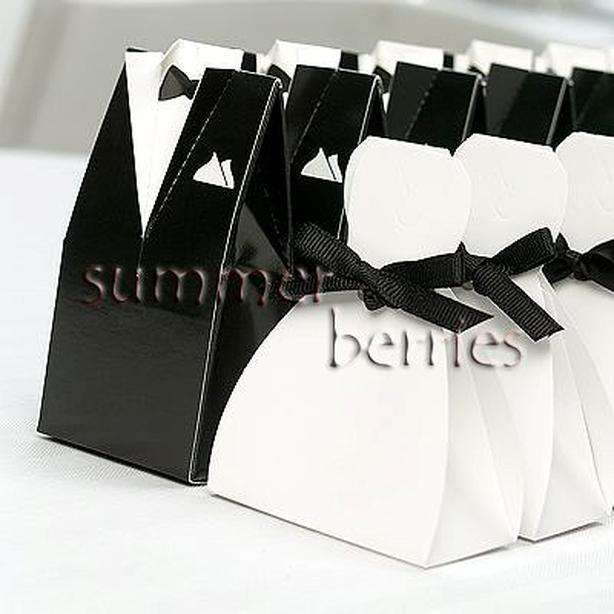 Tuxedo & Gown Favor Boxes