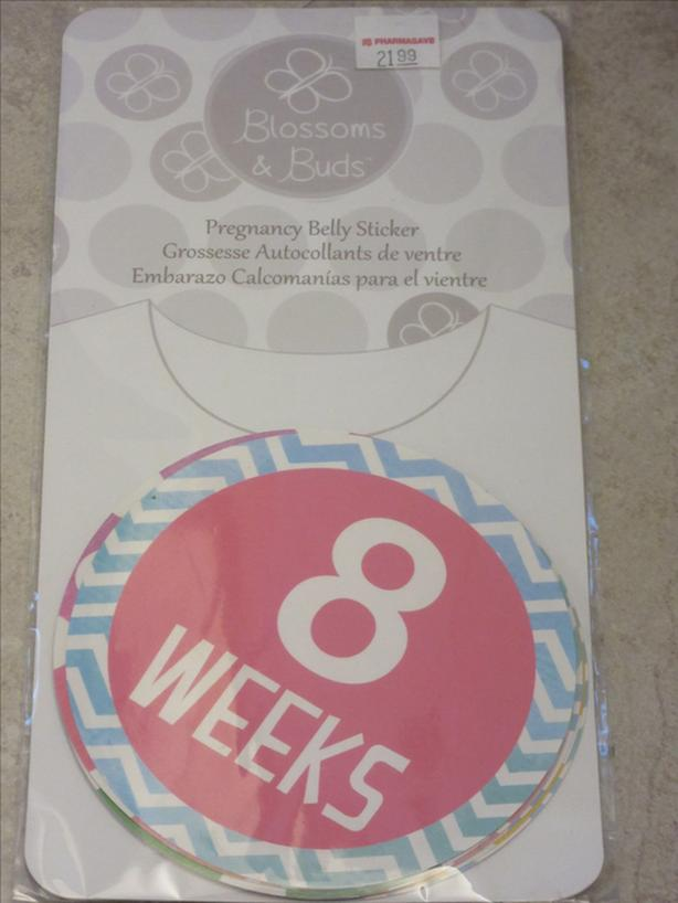 NEVER USED: PREGNANCY BELLY STICKERS
