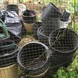 Large amount of garden pots