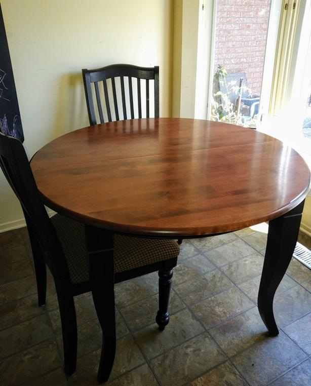 Solid Wood Dining Table 6 Chairs