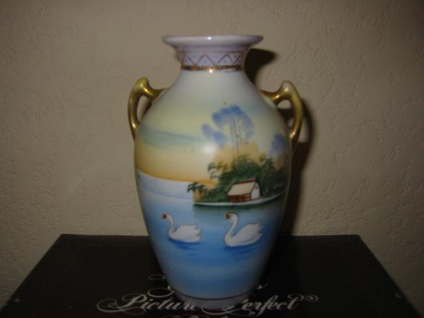 Nippon Japan Translucent Hand Painted Antique Porcelain Vase Saanich