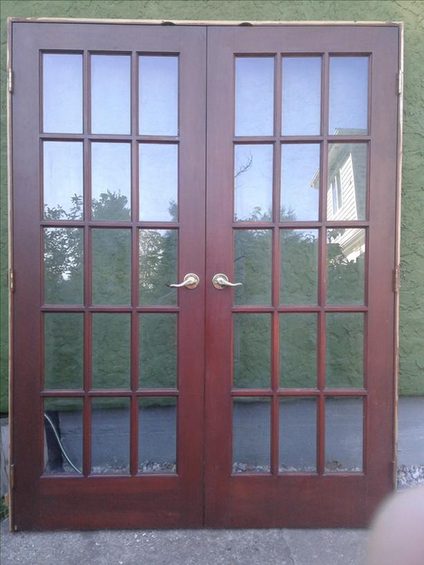 Beautiful Solid Wood Interior French Doors With Frame Reduced