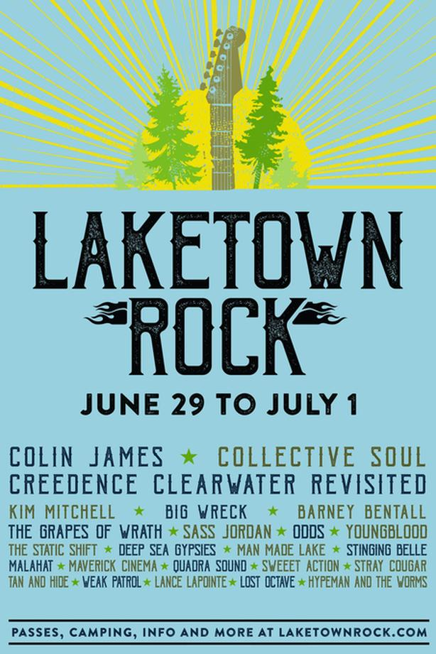 Laketown Rock - Two tickets & camping