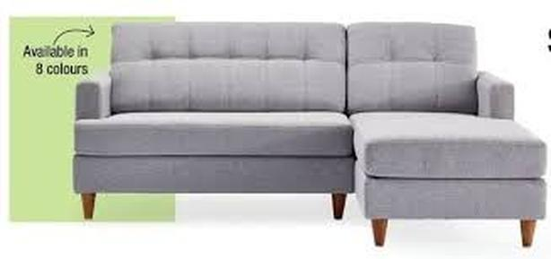 Euc Hudson39s Bay 79 Inch Loveseat Sectional In Silvergrey