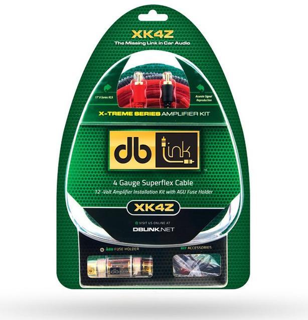 DB Link X-Treme Series XK4Z 4-Gauge Amplifier Installation Kit