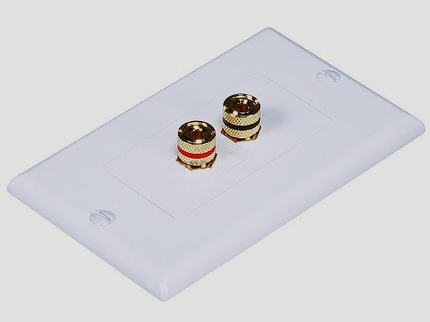 Speaker Wall Plates - Binding Post & Banana Plug (1-5 Speakers)