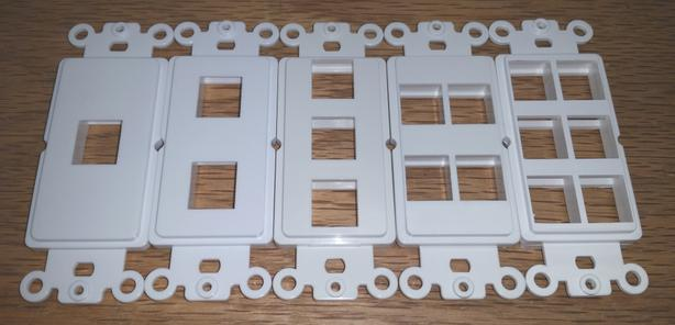 Wall Plate for Keystone Inserts (Decora) - White