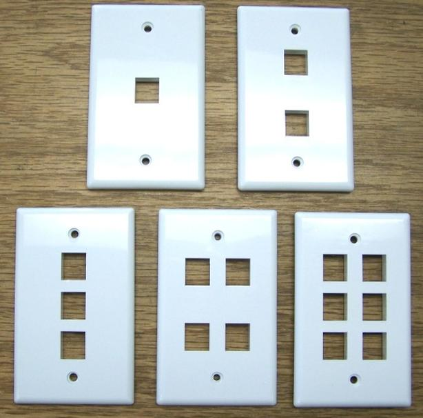 Wall Plate for Keystone Inserts - White