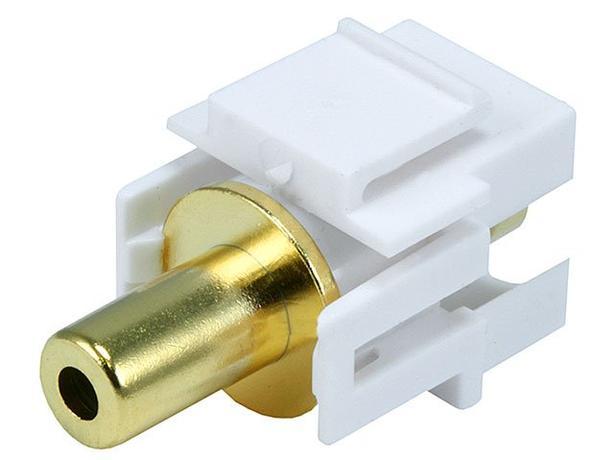 Keystone Insert - 3.5mm Coupler Type - White