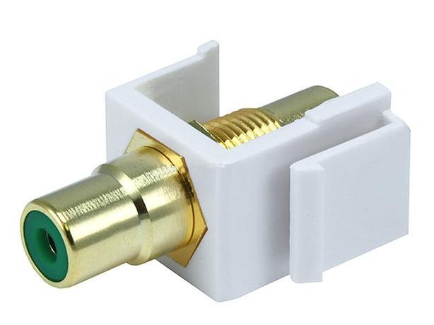 Keystone Insert - RCA Copuler Type - White