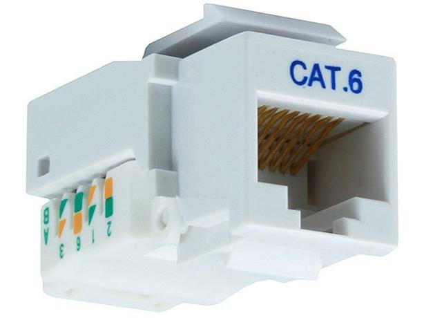 Keystone Insert - Cat6 RJ-45 Toolless - White