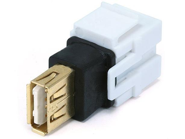 Keystone Insert - USB 2.0 Coupler Type - White