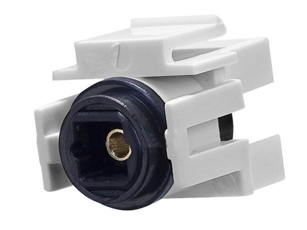 Keystone Insert - S/PDIF (Toslink) Optical Coupler Type - White