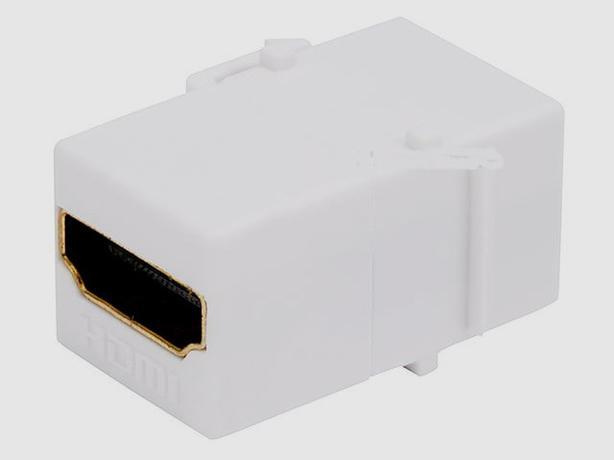Keystone Insert - HDMI Inline Coupler Type - White