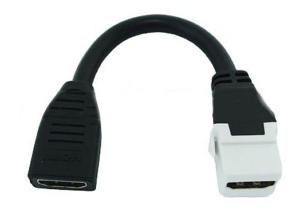 Keystone Insert - 6 inch HDMI Female to Female - White