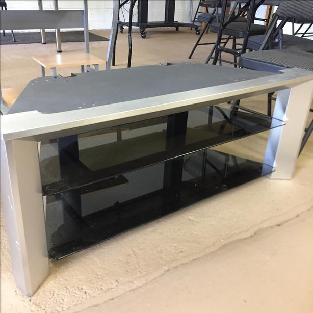 Really Sturdy Tv Stand W Glass Shelves West Shore Langford Colwood