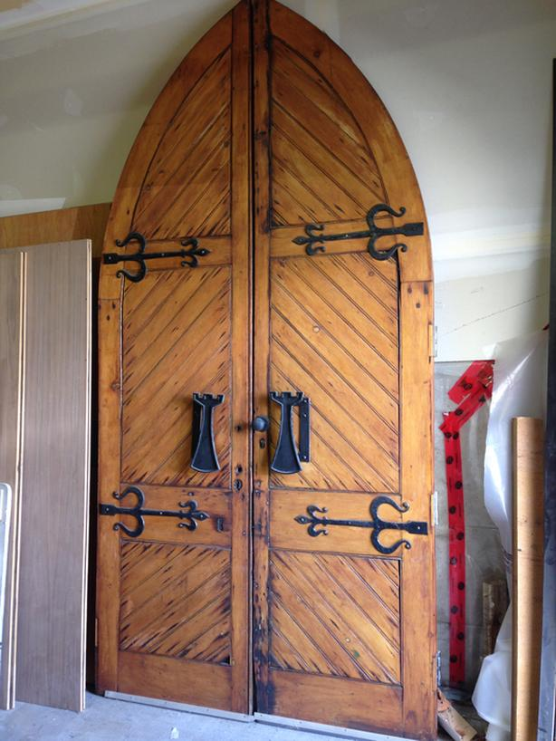 Arched European Look Double Front Doors Central Saanich Victoria