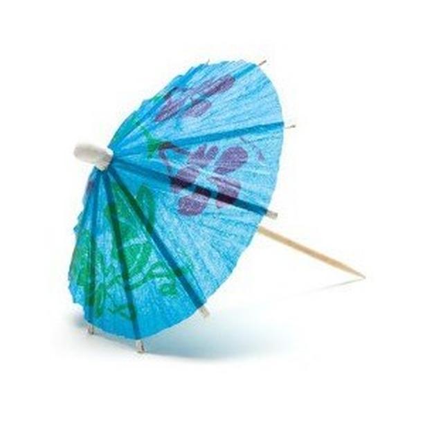 Mini Cocktail Parasol Umbrella - Blue (Set of 100)