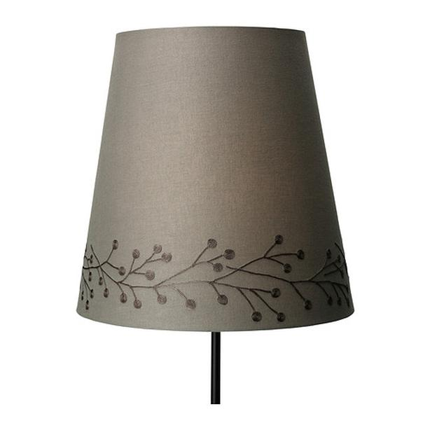"Ikea SKEBY Fabric Lamp Shade - 13"" - Taupe"