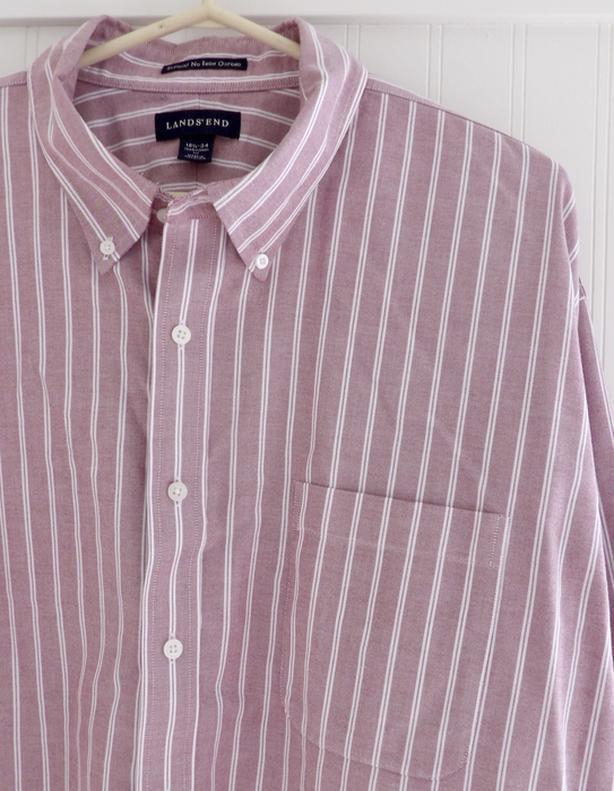 Men's LANDS' END No Iron Oxford Shirt Size 34 - 18 1/2 Neck