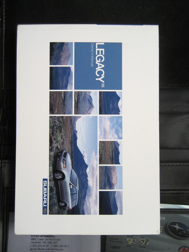 FREE: 2005 Subaru Legacy owner's manual