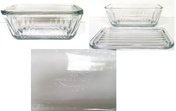 Anchor Hacking butter dish Vintage